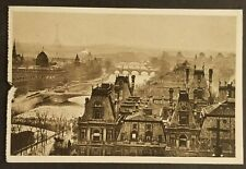 1927 Paris France Woodstock Vermont Panoramic View Real Picture Postcard Cover