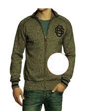 BNWT  G STAR RAW  Full Zip Melange Knit Sweater   Black  XXL