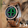 BOBO BIRD WP13 Brand Design Digital Watch Night Vision Wooden Watch Tokyoflash