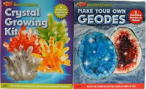 Older Kid's Science Gifts - Grow Your Own Crystals / Geodes Kit (Set of 2)