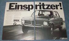 """1972 BMW 2002 Tii Vintage 2pg Ad """"Einspritzer!"""""""