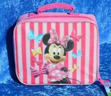 MINNIE MOUSE LUNCH OR SNACK BAG Box Tote Soft Sided Officially Licensed CUTE NEW