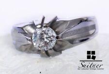 moderner Brillant Ring 0,70 ct  Weiß 585 Weißgold Gr. 54,5