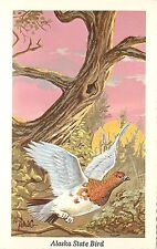 Vintage Art Postcard A/S Ken Haag Alaska State Bird Willow Ptarmigan Unposted