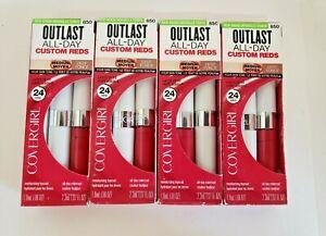 "4 New Boxed ""Covergirl"" Outlast All-Day Lipsticks (#850 Extraordinary Fuchsia)"