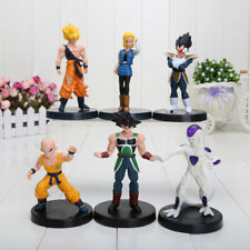 6pcs 12cm anime Dragon Ball Z Super Saiyan Trunks vegeta Son Goku Action Figure