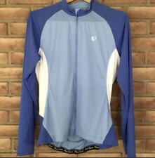 Pearl Izumi Elite Womens Size Large Cycling Jacket Blue Full Zip Jersey