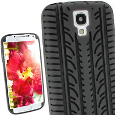 Black Silicone Tyre Skin for Samsung Galaxy S4 IV I9500 Android Case Cover Shell