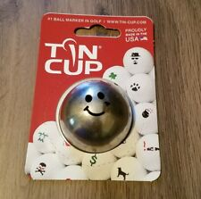 Tin Cup ball marker Groovy smiley face emoji NEW