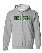 Irish Stitched Full Zip Hoodie-18600