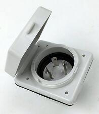 RV Power Inlet 30 Amp 125V Marine Twist Easy Lock Power Inlet - RV100R