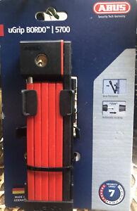 ABUS UGRIP BORDO 5700/80 FALTSCHLOSS, SH Red, Neu! OVP! 59,95€