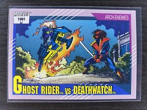 GHOST RIDER VS. DEATHWATCH / Marvel Universe Series 2 (1991) BASE Card #109