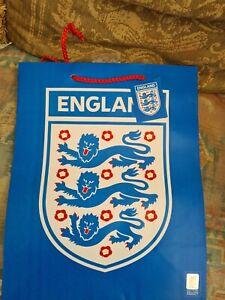 12X  paper bag. Blue England Official Merchandise Bag 13 x 10