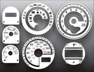 Fits 2009-2011 Nissan 370Z Dash Instrument Cluster White Face Gauges