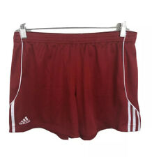 Adidas Climalite Red Athletic Short Shorts White Stripes - Men's Large
