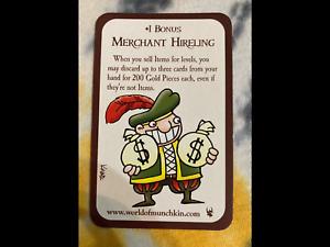 MERCHANT HIRELING - Munchkin promo / Steve Jackson Games