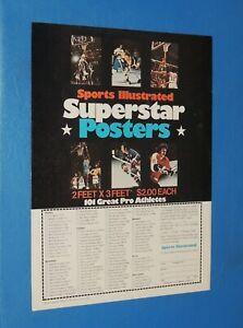 Sports Illustrated All Pro Posters ad 1968-72 Bobby Orr Julius Erving Dr J