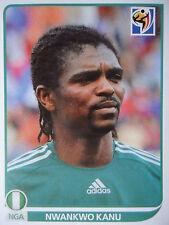PANINI 139 Nwankwo Kanu Nigeria Fifa World Cup 2010 Sudafrica