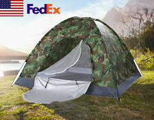 Waterproof 3-4 Person Family Dome Camping Dome Tent Camouflage Hiking Outdoor US