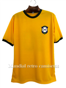 Brasil mundial 1970 PELE jersey camiseta maglia (retro)