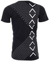 Armani Exchange INVERTED Mens Designer T-SHIRT Premium BLACK Slim Fit $45 NWT