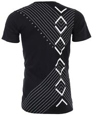Armani Exchange INVERTED Mens Designer T-SHIRT Premium BLACK Slim Fit $45 NWT