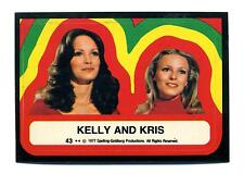 Topps 1978 Charlie's Angels Series 4 Sticker Card #43 Kelly And Kris