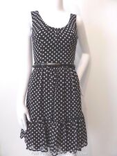 REVIEW   rrp $259.95  Size 6 US 2 Sleeveless Polka Dot Shift Dress with Belt