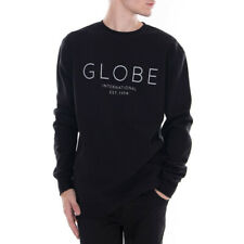 Felpa Uomo Girocollo Globe Mod Crew IV Nero Total Black Winter Men Sweatshirt