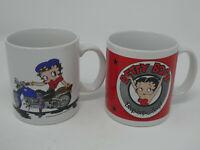 LOT OF 2 VINTAGE 1994 BETTY BOOP EZ RIDER & BOOP-OOP-A-DOOP! DAKIN 12 OZ MUGS