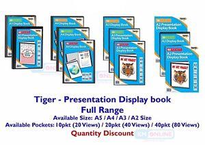 Quality Presentation Display Book Portfolio Folder in A5, A4, A3, A2