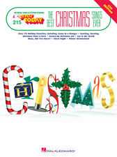 THE BEST CHRISTMAS SONGS EVER:E-Z PLAY TODAY #215 PIANO/KEYBOARD MUSIC BOOK NEW!