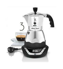 Bialetti Moka Easy Timer 3 cup Tassen Espressomaschine coffee maker Mokka Dama