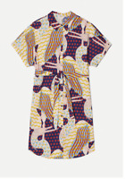 👾 New Gorman Stork Talk Kimono Shift Cotton Dress Size L 12/14  👾
