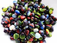 Czech pressed beads shell multi colour 9 mm pack of 15