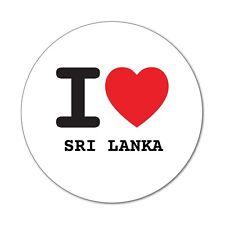 I love SRI LANKA - Aufkleber Sticker Decal - 6cm