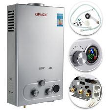8 Litri Scaldabagno Scaldacqua Scaldino a Gas GPL Instant Water Heater Boiler