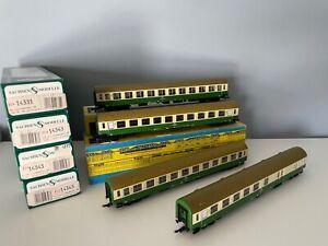 Sachsenmodelle14343, 14331, 4x Reisezugwagen 2. Kl. der DR, Ep. IV, in OVP