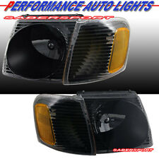 01-03 FORD EXPLORER SPORT/ 01-05 SPORT TRAC HEADLIGHTS + CORNER BLACK 4PCS SET