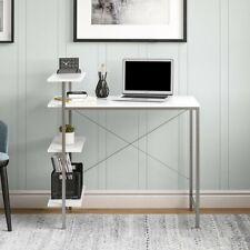 Mainstays Side Storage Student Desk, White
