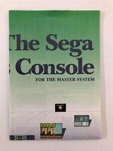 Original SEGA Master System Games Console Poster RARE