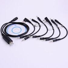 USB Programming Cable+CD 6 in 1 for Ham Radio Motorola HYT ICOM BAOFENG KENWOOD