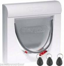 Staywell Petsafe 932 Cat Flap White Magnetic 4 way Locking inc. 3x Key Magnets