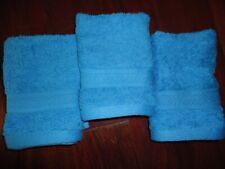 Tommy Hilfiger AQUAMARINE BLUE (3PC ) WASHCLOTHS SET 13 X 13