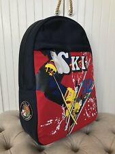 Polo Ralph Lauren USA Ski 92 Downhill Suicide Polyester/Leather Backpack Red