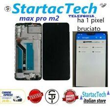 LCD DISPLAY FRAME ASUS ZENFONE MAX PRO M2 PIXEL BRUCIATO ZB631KL ZB630KL X01BDA