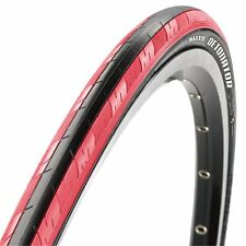 Pair Maxxis Detonator Folding Road Tire 700x23c Black Red Kvlr Race Bead