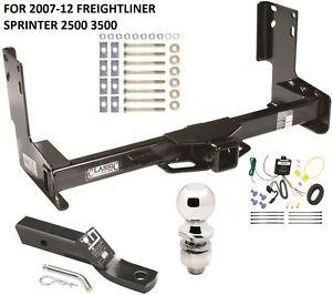 2007-12 FREIGHTLINER SPRINTER 2500 3500 COMPLETE TRAILER HITCH PKG W/ WIRING KIT