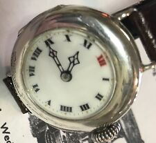 Early Silver ROLEX Wrist Watch 1917 Willsdorf & Davis Low Serial Number Working